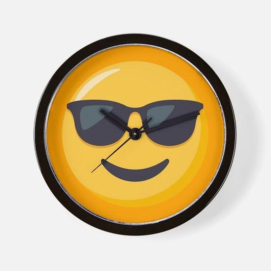 Sunglasses Emoji Wall Clock