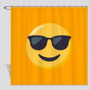 Sunglasses Emoji Shower Curtain