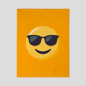 Sunglasses Emoji Twin Duvet Cover