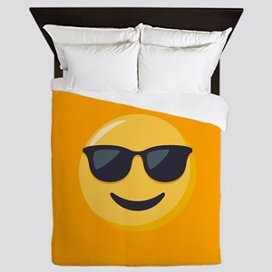 Sunglasses Emoji Queen Duvet