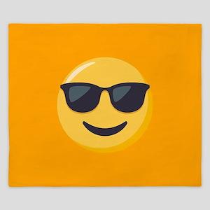 Sunglasses Emoji King Duvet