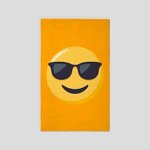 Sunglasses Emoji Area Rug