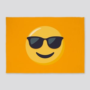 Sunglasses Emoji 5'x7'Area Rug