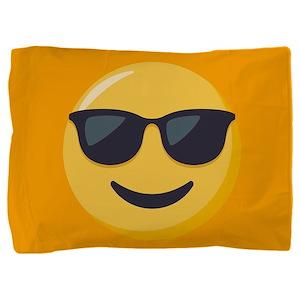 Sunglasses Emoji Pillow Sham
