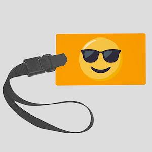Sunglasses Emoji Large Luggage Tag