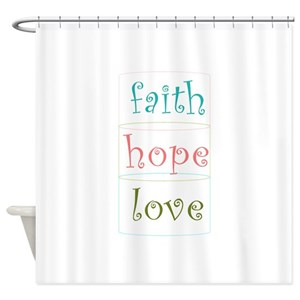 Faith Hope Love Shower Curtains