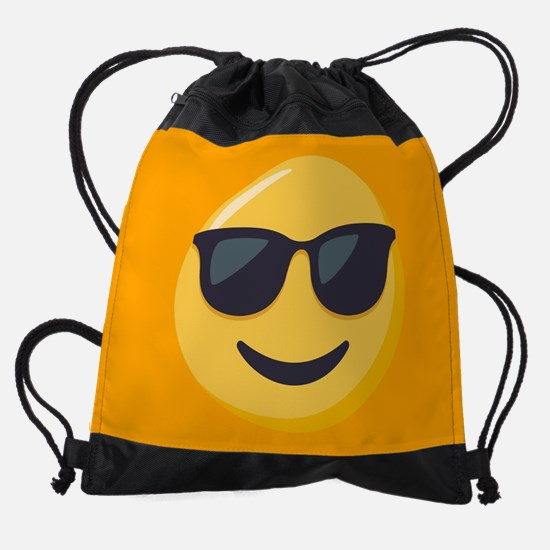 Sunglasses Emoji Drawstring Bag