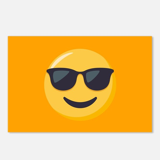 Sunglasses Emoji Postcards (Package of 8)