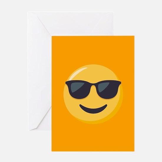 Sunglasses Emoji Greeting Card