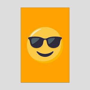 Sunglasses Emoji Mini Poster Print
