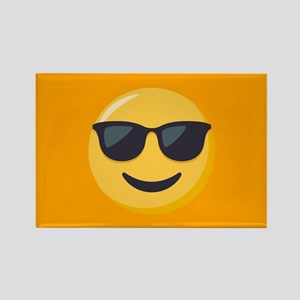 Sunglasses Emoji Rectangle Magnet