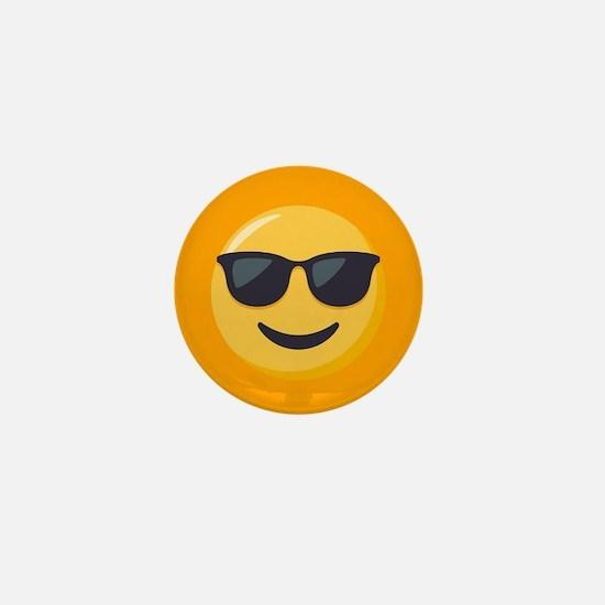 Sunglasses Emoji Mini Button