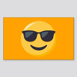 Sunglasses Emoji Sticker (Rectangle)