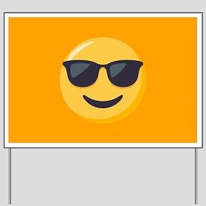 Sunglasses Emoji Yard Sign