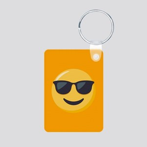Sunglasses Emoji Aluminum Photo Keychain