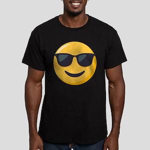 Sunglasses Emoji Men's Fitted T-Shirt (dark)