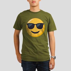 Sunglasses Emoji Organic Men's T-Shirt (dark)