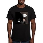 Bat Wake-Up Call Men's Fitted T-Shirt (dark)