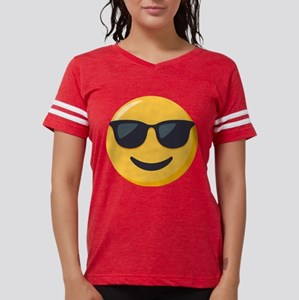 Sunglasses Emoji Womens Football Shirt
