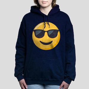 Sunglasses Emoji Women's Hooded Sweatshirt