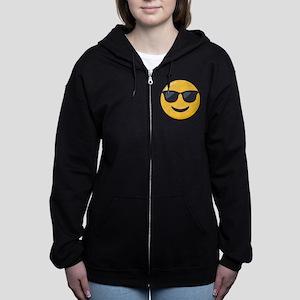 Sunglasses Emoji Women's Zip Hoodie