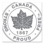 "Canadian Pride STRONG & Square Car Magnet 3"" x 3"""