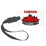Canadian Pride STRONG & FREE Large Luggage Tag