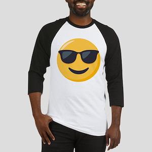 Sunglasses Emoji Baseball Tee