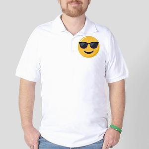 Sunglasses Emoji Golf Shirt