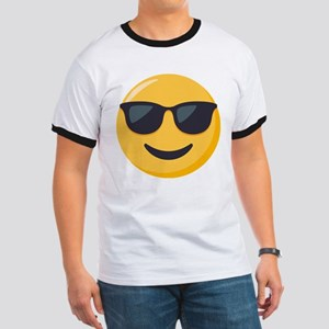 Sunglasses Emoji Ringer T