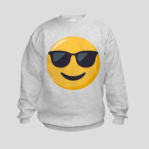 Sunglasses Emoji Kids Sweatshirt
