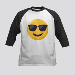Sunglasses Emoji Kids Baseball Tee