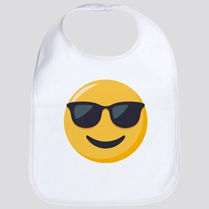Sunglasses Emoji Cotton Baby Bib
