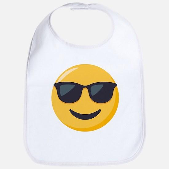 Sunglasses Emoji Cotton Baby Bib