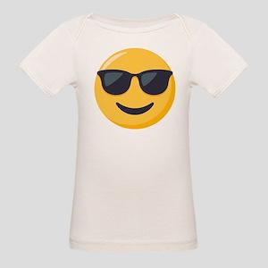 Sunglasses Emoji Organic Baby T-Shirt