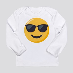 Sunglasses Emoji Long Sleeve Infant T-Shirt