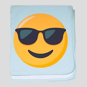 Sunglasses Emoji baby blanket