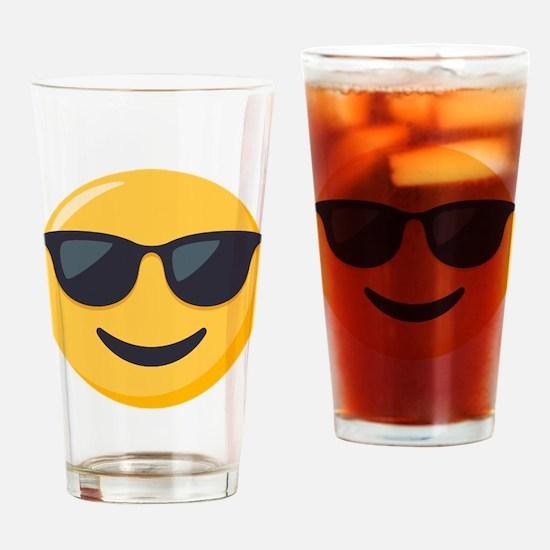 Sunglasses Emoji Drinking Glass