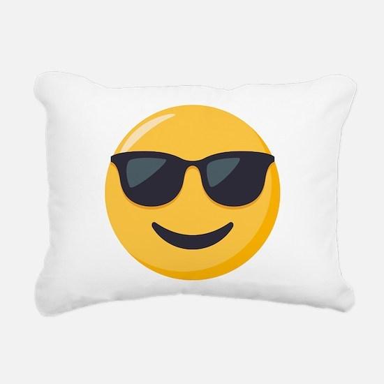 Sunglasses Emoji Rectangular Canvas Pillow