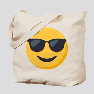 Sunglasses Emoji Tote Bag