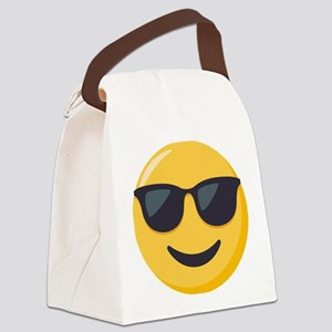 Sunglasses Emoji Canvas Lunch Bag