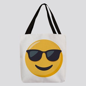 Sunglasses Emoji Polyester Tote Bag