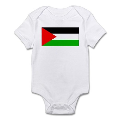 Palestinian Blank Flag Infant Creeper
