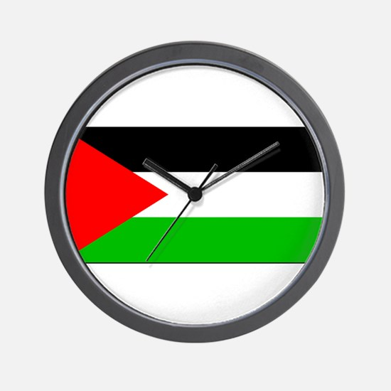 Palestinian Blank Flag Wall Clock