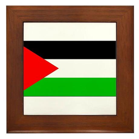 Palestinian Blank Flag Framed Tile