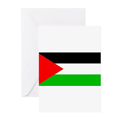 Palestinian Blank Flag Greeting Cards (Package of