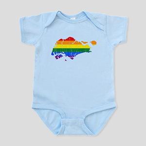 Singapore Rainbow Pride Flag And Map Infant Bodysu