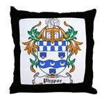 Phypoe Coat of Arms Throw Pillow