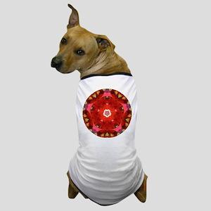 Red Flower 5 Mandala Dog T-Shirt