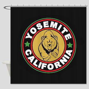 Yosemite Black Circle Shower Curtain